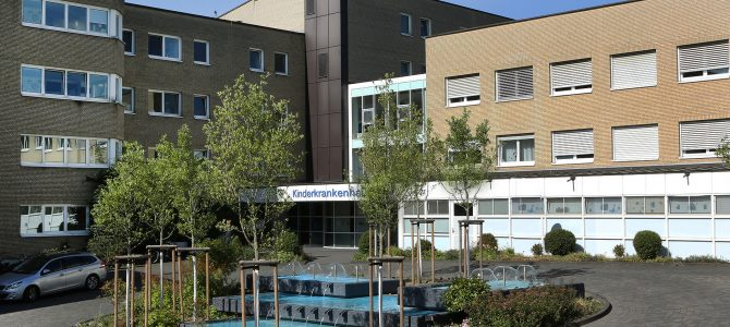 Brunnen vor der Kinderklinik Amsterdamer Straße